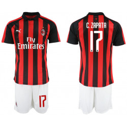 2018/19 AC Milan 17 C. ZAPATA Home Soccer Jersey