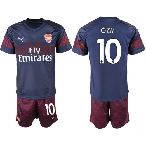 2018/19 Arsenal 10 OZIL Away Soccer Jersey