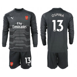 2018/19 Arsenal 13 OSPINA Black Long Sleeve Goalkeeper Soccer Jersey