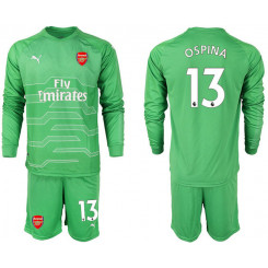 2018/19 Arsenal 13 OSPINA Green Long Sleeve Goalkeeper Soccer Jersey