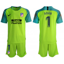 2018/19 Atletico Madrid 1 ADAN Fluorescent Green Goalkeeper Soccer Jersey