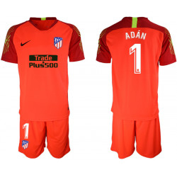 2018/19 Atletico Madrid 1 ADAN Red Goalkeeper Soccer Jersey