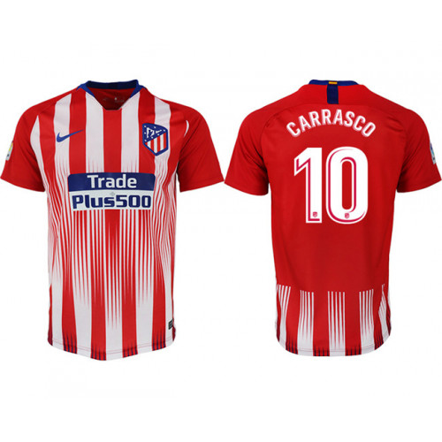 2018/19 Atletico Madrid 10 CARRASCO Home Thailand Soccer Jersey