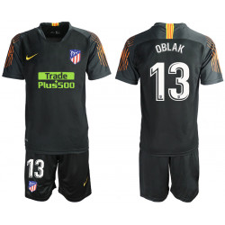 2018/19 Atletico Madrid 13 OBLAK Black Goalkeeper Soccer Jersey