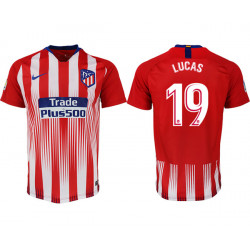2018/19 Atletico Madrid 19 LUCAS Home Thailand Soccer Jersey