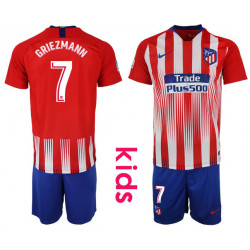 Kid's 2018/19 Atletico Madrid 7 GRIEZMANN Home Soccer Jersey