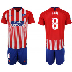 2018/19 Atletico Madrid 8 SAUL Home Soccer Jersey