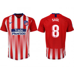 2018/19 Atletico Madrid 8 SAUL Home Thailand Soccer Jersey