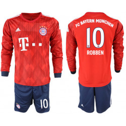 2018/19 Bayern Munich 10 ROBBEN Home Long Sleeve Soccer Jersey