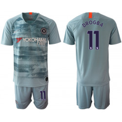 2018/19 Chelsea 11 DROGBA Third Away Soccer Jersey