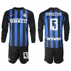 2018/19 Inter Milan 13 RANOCCHIA Home Long Sleeve Soccer Jersey