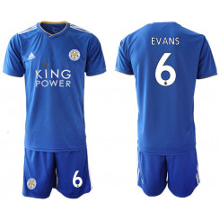 2018/19 Leicester City 6 EVANS Home Soccer Jersey