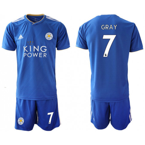 2018/19 Leicester City 7 GRAY Home Soccer Jersey