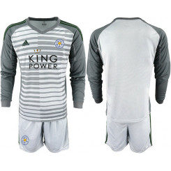 2018/19 Leicester City Gray Long Sleeve Goalkeeper Soccer Jersey
