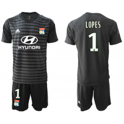 2018/19 Olympique Lyonnais 1 LOPES Black Goalkeeper Soccer Jersey