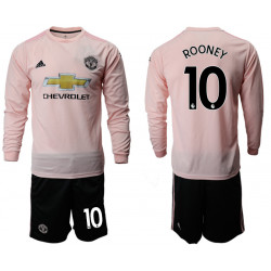 2018/19 Manchester United 10 ROONEY Away Long Sleeve Soccer Jersey
