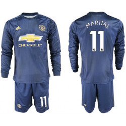 2018/19 Manchester United 11 MARTIAL Away Long Sleeve Soccer Jersey
