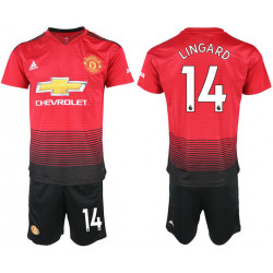 2018/19 Manchester United 14 LINGARD Home Soccer Jersey