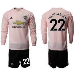 2018/19 Manchester United 22 MKHITARYAN Away Long Sleeve Soccer Jersey