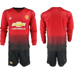 2018/19 Manchester United Home Long Sleeve Soccer Jersey