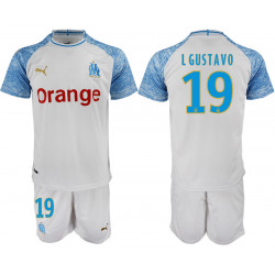 2018/19 Marseille 19 L GUSTAVO Home Soccer Jersey