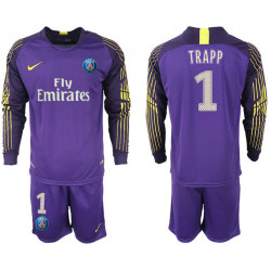 2018/19 Pari Saint Germain 1 TRAPP Violet Goalkeeper Long Sleeve Soccer Jersey
