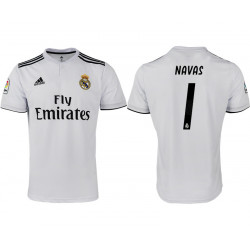2018/19 Real Madrid 1 NAVAS Home Soccer Jersey