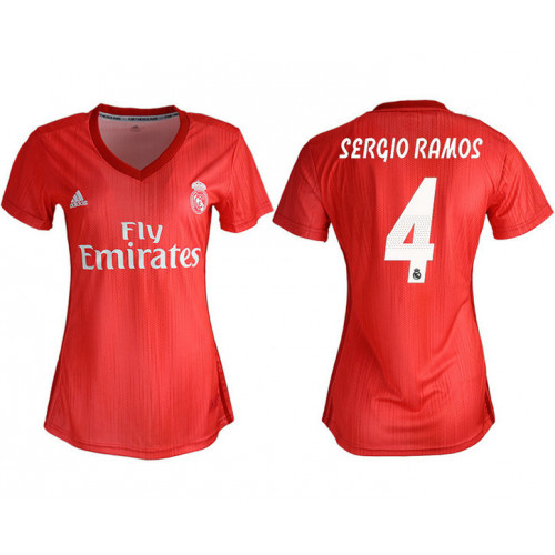 Women's 2018/19 Real Madrid 4 SERGIO RAMOS Away Soccer Jersey