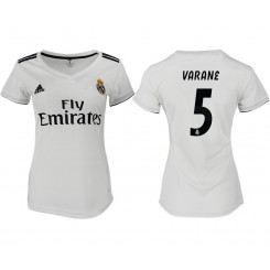 Women's 2018/19 Real Madrid 5 VARANE Home Soccer Jersey