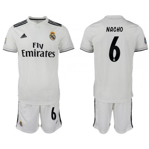 2018/19 Real Madrid 6 NACHO Home Soccer Jersey