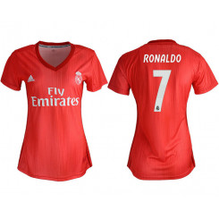 Women's 2018/19 Real Madrid 7 RONALDO Away Soccer Jersey