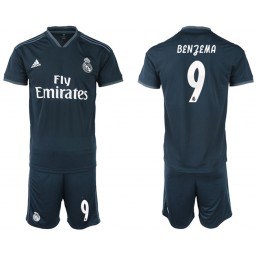 2018/19 Real Madrid 9 BENZEMA Away Soccer Jersey