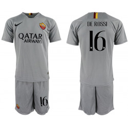 2018/19 AS Roma 16 DE ROSSI Away Soccer Jersey