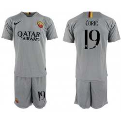 2018/19 AS Roma 19 CORIC Away Soccer Jersey