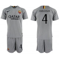 2018/19 AS Roma 4 CRISTANTE Away Soccer Jersey
