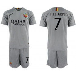 2018/19 AS Roma 7 PELLEGRINI Away Soccer Jersey