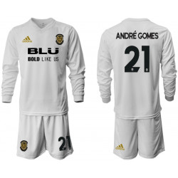 2018/19 Valencia 21 ANDRE GOMES Home Long Sleeve Soccer Jersey