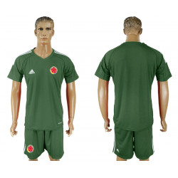 2018 Fifa World Cup Colombia Army Green Goalkeeper Jersey