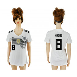Women's 2018 Fifa World Cup Germany Home Authentic Version Womens 8# Jersey