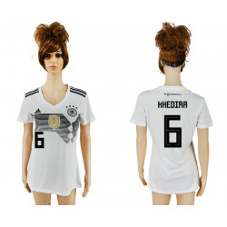 Women's 2018 Fifa World Cup Germany Home Authentic Version Womens 6# Jersey