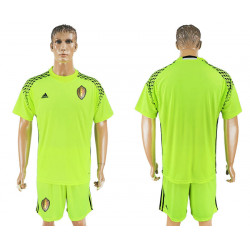2018 Fifa World Cup Belgium Fluorescent Green Goalkeeper Jersey