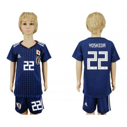 Kids 2018 Fifa World Cup Japan Home Kids 22# Jersey