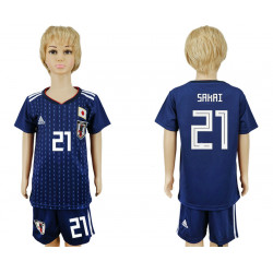 Kids 2018 Fifa World Cup Japan Home Kids 21# Jersey