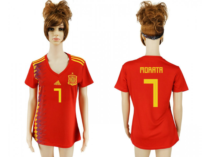 super popular 2865a 6c4e3 Women's 2018 Fifa World Cup Spain Home Authentic Version ...