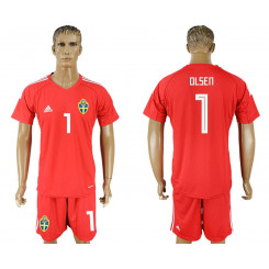 2018 Fifa World Cup Swedish Red Goalkeeper Jersey