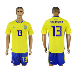 2018 Fifa World Cup Sweden Home #13 Jersey