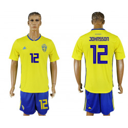 2018 Fifa World Cup Sweden Home #12 Jersey