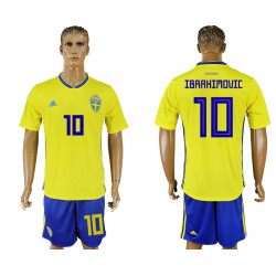 2018 Fifa World Cup Sweden Home #10 Jersey