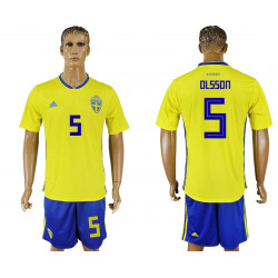 2018 Fifa World Cup Sweden Home #5 Jersey