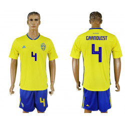 2018 Fifa World Cup Sweden Home #4 Jersey